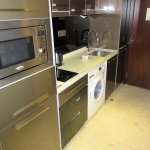 Kitchenette with washing machine
