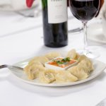 Chicken Momo : Nepalese style minced chicken dumpling flavored with medium spices, wrapped in pa