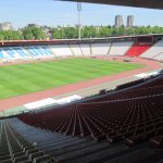 Red Star Belgrade stadium from the VIP seats by the museum