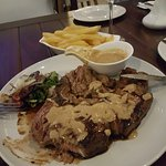 How did I end up eating a steak at a seafood restaurant :)