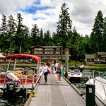 The dock was a super place to see float planes and cool boats