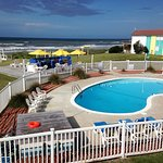 Pool and surrounding area are clean and inviting