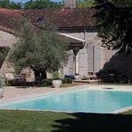 A really good pool beside breakfast patio area