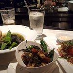 Shrimp & Pork Merguez Stew, Brussel Sprouts, Tuna Poke