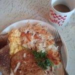 Senior chicken fried steak breakfast