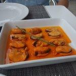 Mejillones en escabeche de naranja