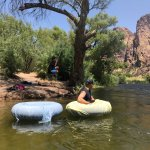 Our first Salt River tube experience