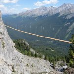 55 m plank bridge at Mount Norquay, Banff