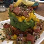Appetizers (Tuna Poke Tower & Calamari)