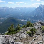 a view well worth of the effort of climbing the via ferrata at Norquay Mountain