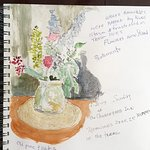 Dining Room Sketch Churchyard Inn.