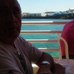 Vue sur la mer,à partir de notre table..