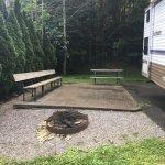 Site #50 at Twin Creek RV resort in Gatlinburg, TN.