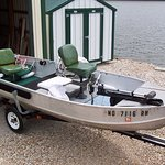 14 foot Fishing Boat - our guests love to rent this boat for a day of hooking the big fish.