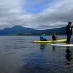Paddleboarding and kayaking at Luss