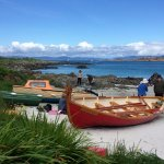 Isle of Iona on a beautiful sunny day. The water was turquoise.