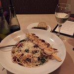 Spaghetti quinoa (noodles are quinoa) Shrimp extra.