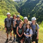 After the waterfall zip line
