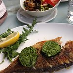 Bream and garlic butter