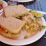 Salmon Sandwich Plate