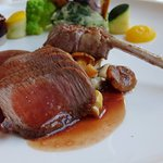 Lamb was the main course