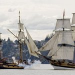 Tall ships visit the Newport Bayfront every summer.