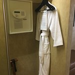 One King Suite closet (upstairs), only one bathrobe...