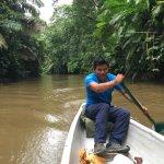 Carlos paddling