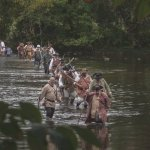 Re-enactment of the muster of the Overmountain Men at Sycamore Shoals - September 25, 1780