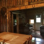 Cowboy Cabin is creekside on back deck! BEAUTIFUL!!