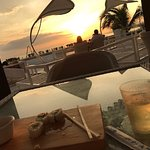 Rooftop pool and bar with sushi
