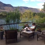 Shared Patio Area, Riverland Inn, Kamloops