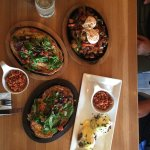 a selection of brunch dishes