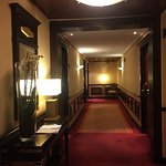 The ample corridors in modern Art Deco style with fresh flowers & original artwork everywhere.