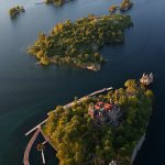 Arial shot of Boldt Castle