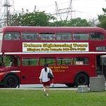 Double decker bus tour stops here