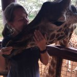Our vist to the giraffe rescue. Thank you Francis from the Ole Sereni