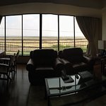 A poor photo of the Masai suite living room. The suite is indescribable