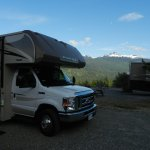 Camper with Black Tusk Mountain in background