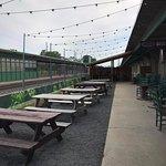 Beer Garden next to tracks
