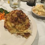This is what a real crab cake looks like. Accept no hockey puck-shaped imitations!