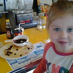 Lila loves the blueberry pancakes!