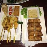 Satay Chicken & Fried Vegetable Spring Rolls