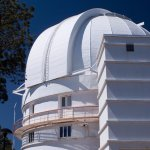 Outside of one of the observatories - this one was not open to the public