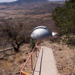Walkway to another telescope building