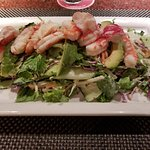 Grilled Maine lobster, Gulf Coast shrimp, avocado, mango, cashews, crisp green w/creamy citrus d