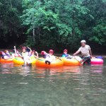 after the cave, floating down the river