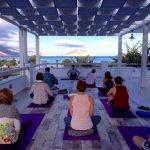 Pension Askas rooftop yoga and vista.