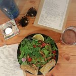 Amazing salads made with local island greens from Sutil Farms