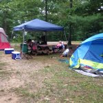 My site had 25x20 tent Red one and small blue tent plenty of room